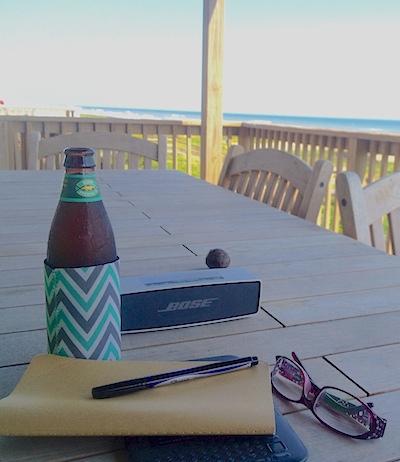 beach-writing